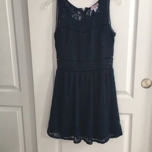 Blue Lacey Dress with Waist Cut Outs